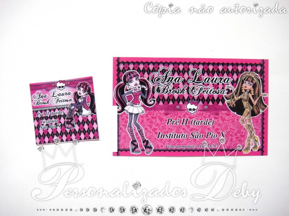 Kit etiquetas escolar MONSTER HIGH