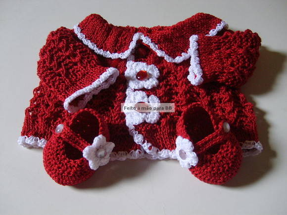 Conjunto Red Flowers