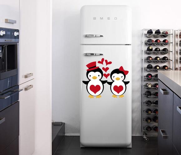 Aparador Baixo Mdf ~ Adesivo pinguim para geladeira Decoreacasa Elo7