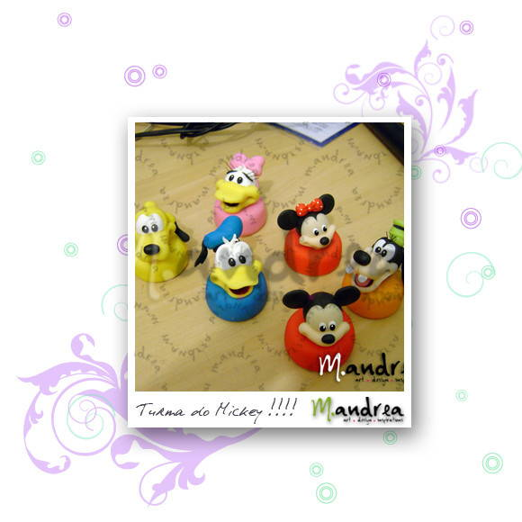 Tubetes em biscuit - Turma do Mickey