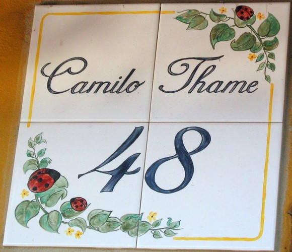 numero de casa em azulejo oficina 778 elo7 On azulejo numero casa