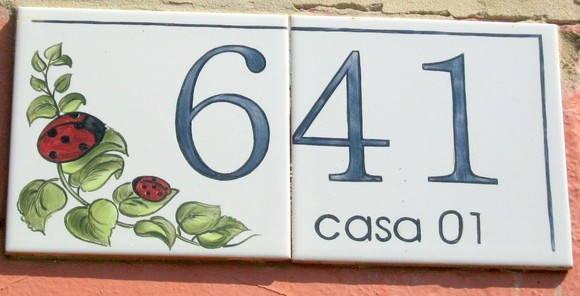 Numero de casa em azulejo oficina 778 elo7 for Azulejo numero casa