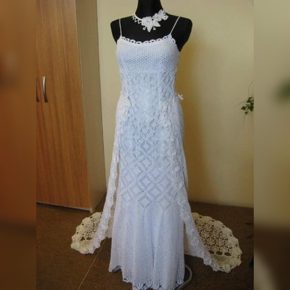 Vestido de noiva artigos de trico e croche da lizandra for Wedding dress patterns free download
