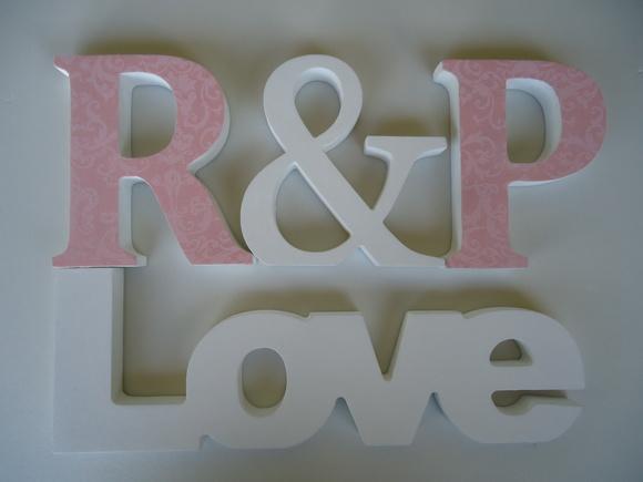 kit decoracao casamento : kit decoracao casamento:kit-decoracao-noivado-casamento-letra-decorativa