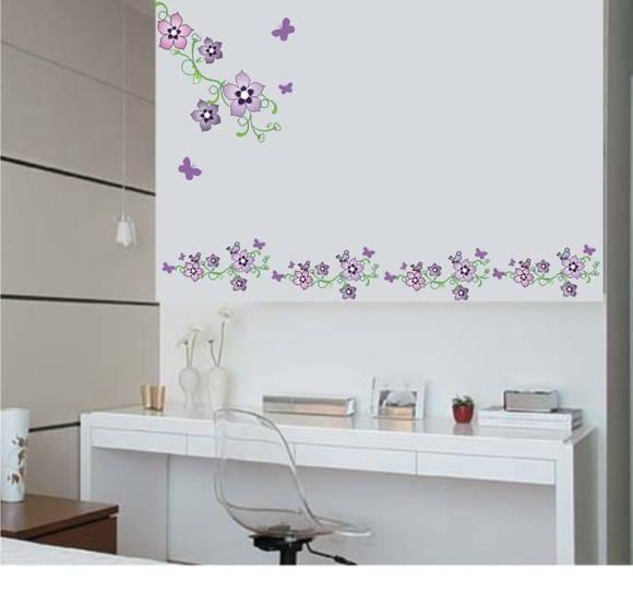Adesivo Faixa Floral 020