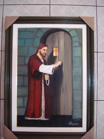 Jesus bate a porta japapini elo7 for Jesus a porta