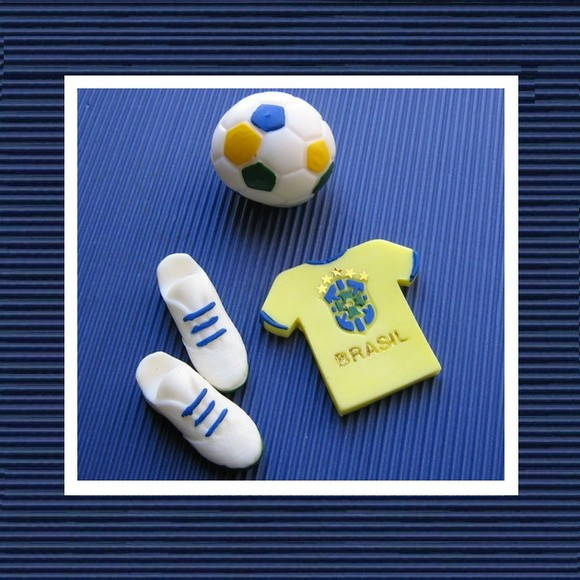 Sabonete Kit Brasil Azul e Branco