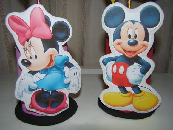 Enfeites de mesa da Turma do Mickey