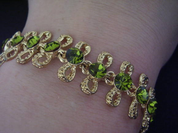 Pulseira Dourada Olivine