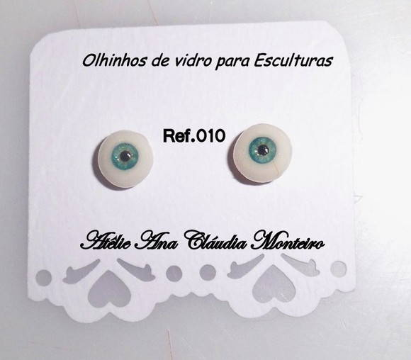 Olhos de vidro de 6 MM.