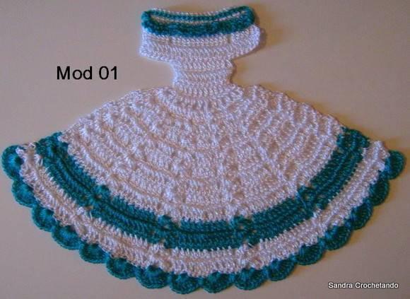 Gráfico do vestidinho em crochê Modº 01