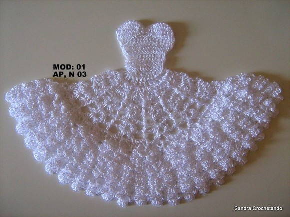 Gráfico do vestidinho em crochê 01(Ap 3)