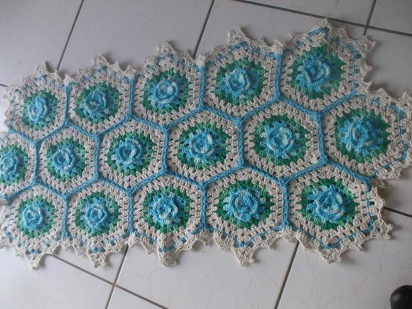 Receita Tapete Primavera Barbante Barroco Facilite Sua Arte Tapete  Car Inte -> Banheiro Decorado Com Croche