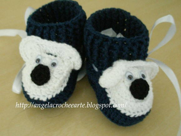 Sapatinho Baby Urso Polar Cano Curto!!!