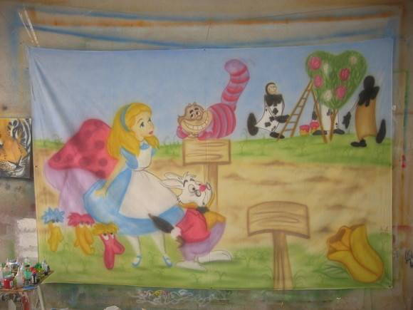 Painel Alice no Pa�s das Maravilhas