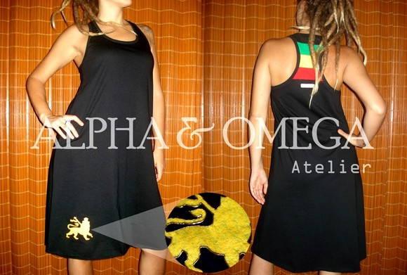 Vestido Reggae Natty PRETO(ref.VS 01-10)