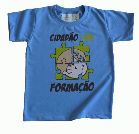 Camiseta Infantil malha PET Cidad�o AZ