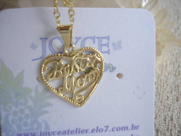 COLAR BEST MOM-(M�E)FOL.OURO
