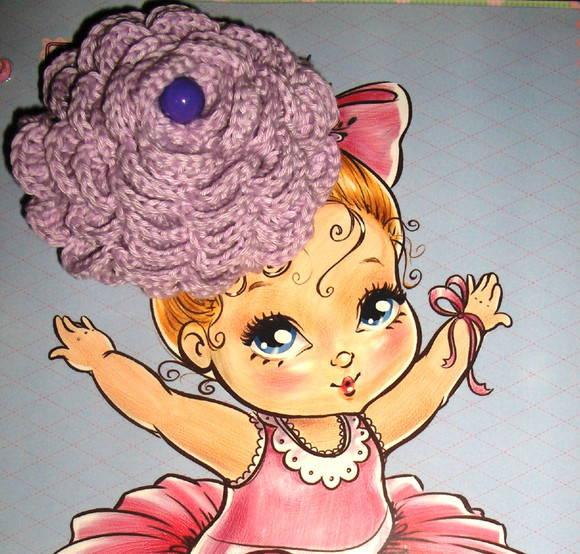 El�stico para cabelo em crochet Lil�s