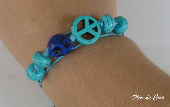 Turquoise Peace&Skull