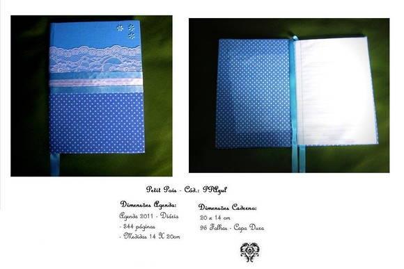 Agenda 2015 ou Caderno - Petit Pois Azul