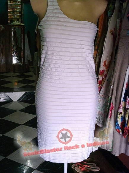 Vestido Branco com forro Bandagem