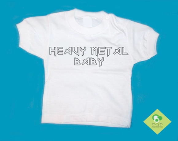 T-Shirt Beb� Heavy Metal Baby