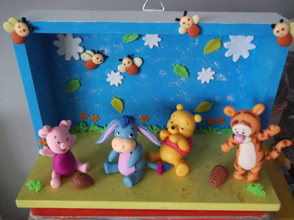 quadro para maternidade Turma Baby Pooh