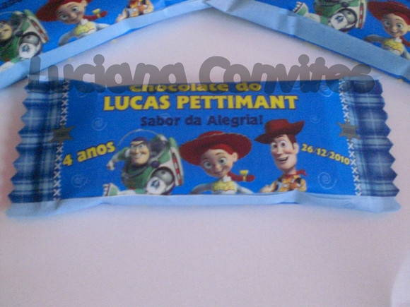 CHOCOLATE PERSONALIZADO TOY STORY