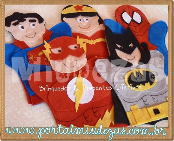 Mini Fantoches - Super Her�is - Sortidos