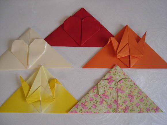 Marcador de p�gina de origami