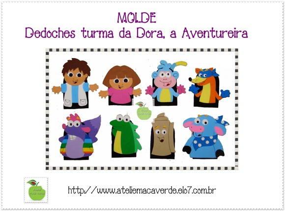 MOLDE DEDOCHE TURMA DA DORA  AVENTUREIRA