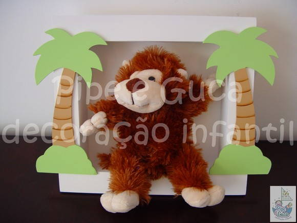 (DO 0044) Quadro decorativo macaco