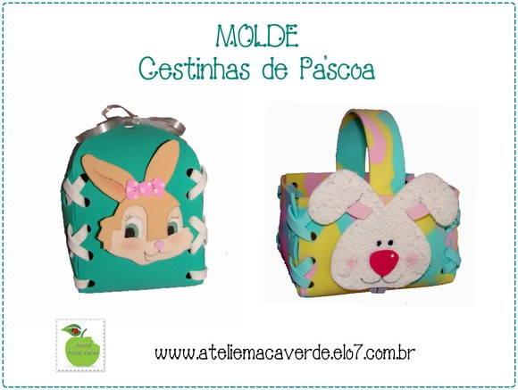 MOLDE - RISCO CESTINHA DE P�SCOA EVA