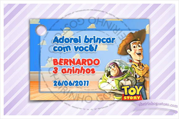Carto - Tag Aniversrio do Toy Story