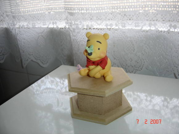 Enfeite de mesa do Pooh
