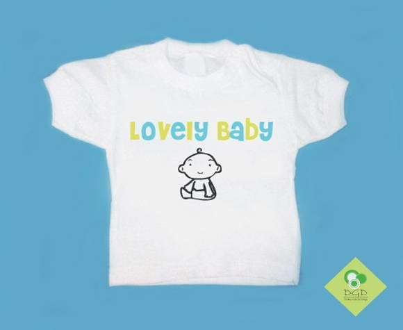 T-Shirt Beb e Infantil LOVELY BABY