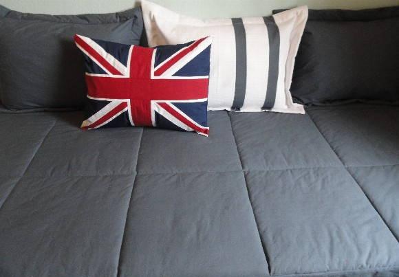 Colcha masculina para cama box solteiro