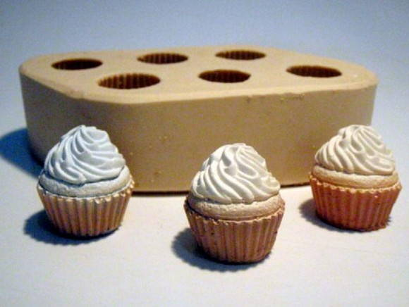 Moldes de Silicone - Mini Cupcakes