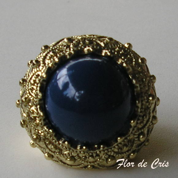 Retro Ring Dark Blue