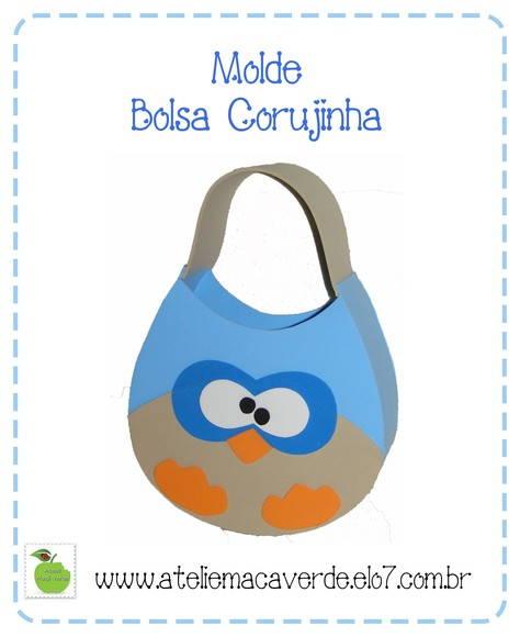 Início > Outros > MOLDE - RISCO PARA EVA - BOLSA CORUJA