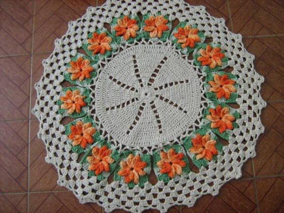 Tapete Jardim Florido Tapete Jardim Florido Flores De Croche Tapete