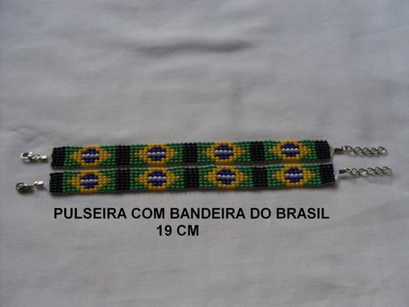 Pulseira com bandeira do brasil