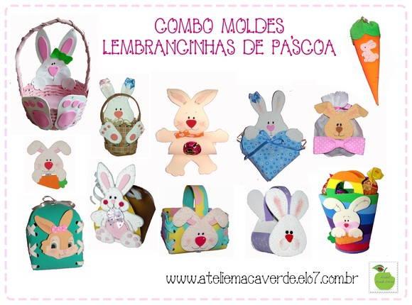 COMBO DE MOLDES PARA P�SCOA