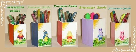 Porta L�pis mdf Personagens