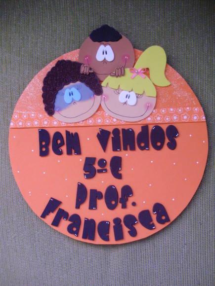 Enfeite De Sala ~ Enfeite de porta sala de aula Ateli u00ea Arte com amor Flávia Borges Elo7