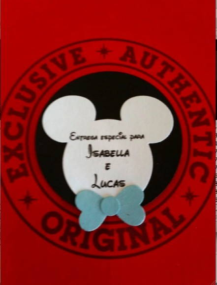 Convite do Mickey e Personagens Disney