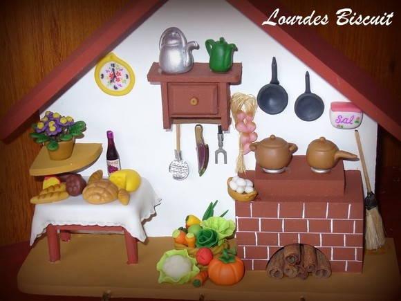 Adesivo De Parede Rolo ~ Casa Cenário em miniatura no Elo7 Lourdes artesanato em biscuit (1263B4)
