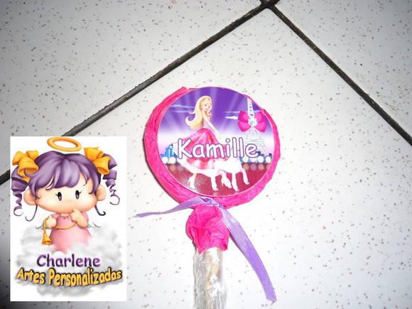 Pirulito Personalizado da Barbie