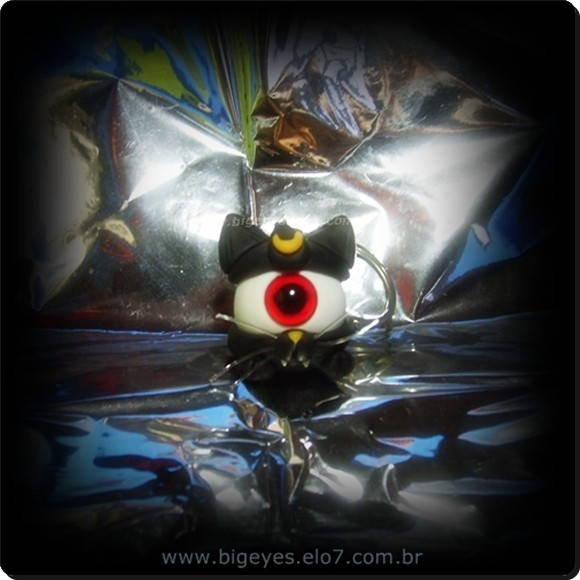 "Chaveiro ""Big Eye Luna-Sailor moon """